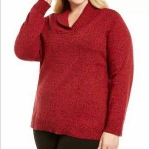 Karen Scott Womens Knit Sweater Top Shawl Collar